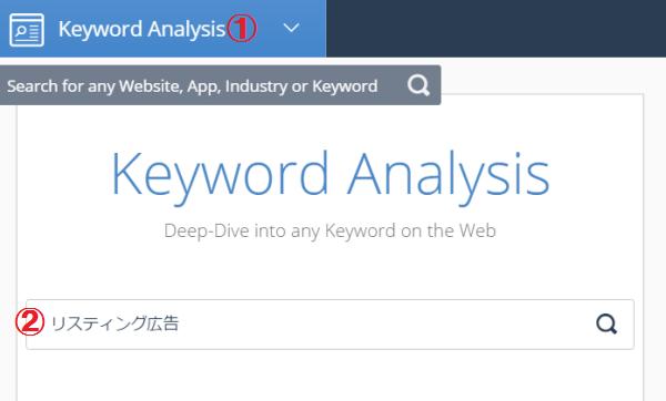 画像:KeywordAnalysis 画面